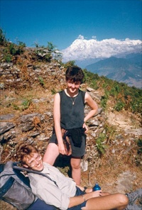 Clive and Jo in Nepal
